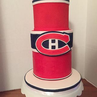 Hockey Cake - Habs Fans