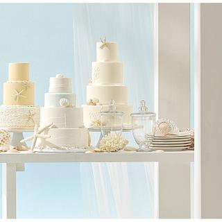 Beach Wedding Cakes for Aire Barcelona - Cake by Soraya Sweetmama