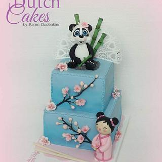 Japanese theme - Cake by Karen Dodenbier