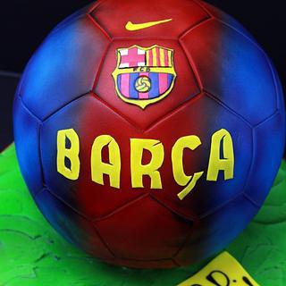 Soccer Ball Cake Tutorial
