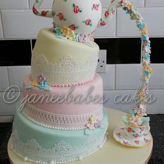 alternative vintage wedding cake