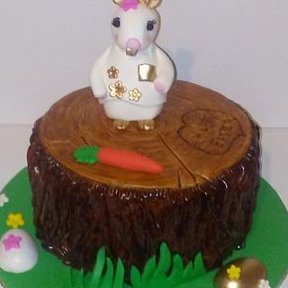 Easter bunny cake..