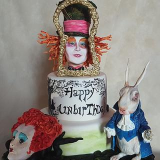 Mad hatter's world cake - Cake by lameladiAurora