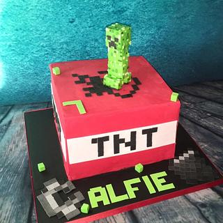 Minecraft TNT cake - Cake by Maria-Louise Cakes