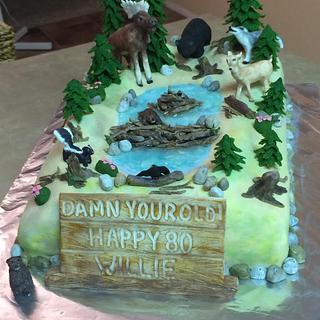 Alberta Wildlife Birthday cake
