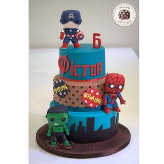 Marvel Funko Pops Cake by Mericakes