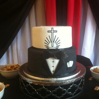 Tuxedo Confirmation Cake