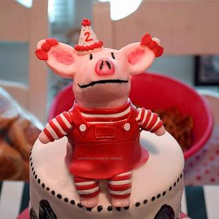 Olivia the Pig Birthday Cake
