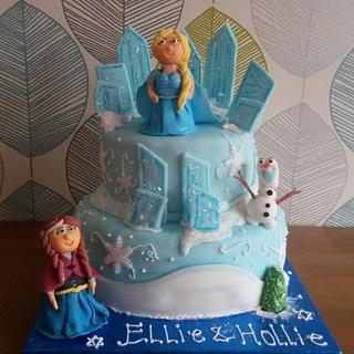 Frozen Elsa Ice Castle Anna birthday cake - Cake by Truly Scrumptious Cakes by Christine