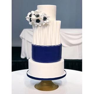 Modern architectural pleated cake
