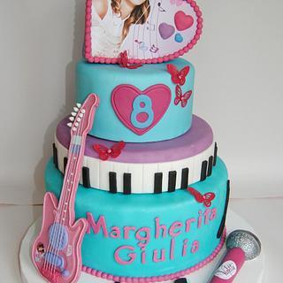 """MARGHERITA 8"""" birthday - Cake by BRICIOLE DI TORTA di MARIA SILVIA CHECCACCI"""