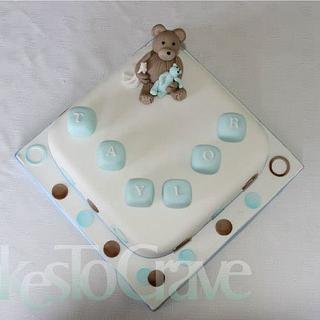 Teddybear Christening Cake
