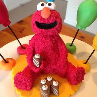 Colourful Elmo Cake
