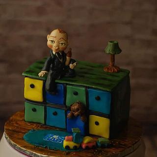 Boss Baby - baby shower cake