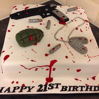 Call of duty themed cake.  - Cake by Daisycupcake