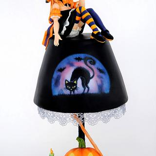 Halloween Lamp Cake - Tickle My Bones Collaboration