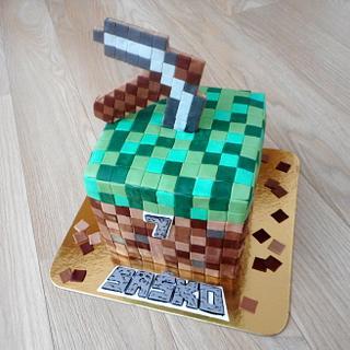 Minecraft cake   - Cake by Janka
