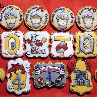 Knight and Dragon Birthday Cookie Set