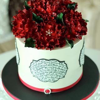 """""""Poetry"""" Engagement Cake"""