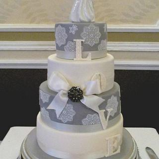 A wedding cake with a twist