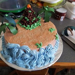 vulcano cake