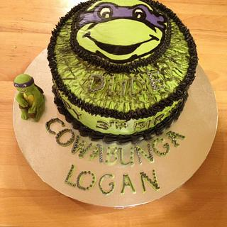 Ninja Turtle Birthday cake for Logan