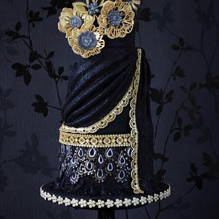 Oriental Elegance in Black & Gold