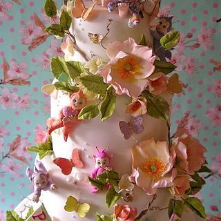 Phoebes Christening cake