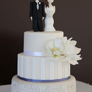 Magnolia Wedding Cake - Cake by Jo Kavanagh