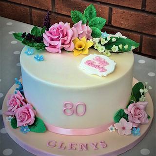 80th Birthday Cake - Cake by Lorraine Yarnold