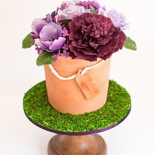 Purple Florals - Cake by Van Goh Cakes