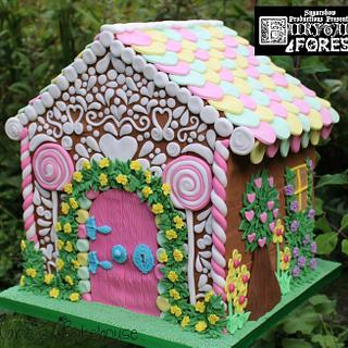 Gingerbread House cake for Fairytale Forest