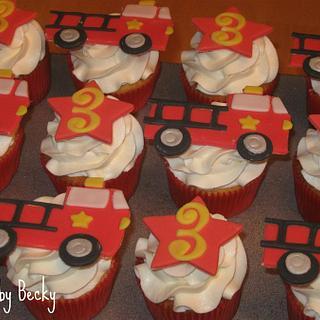 Firetruck Cupcakes