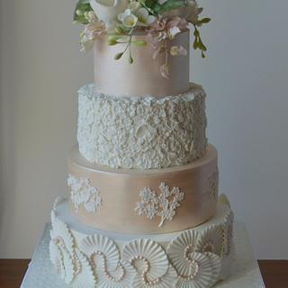 Bas relief wedding cake