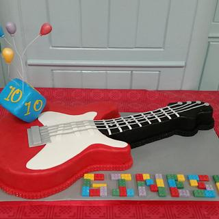 Electric Guitar and Lego Cake