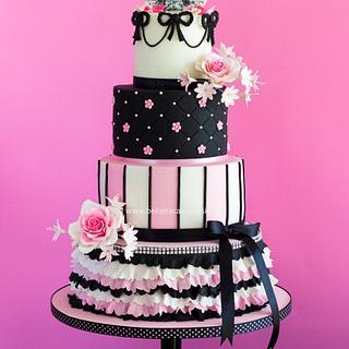 Parisian themed birthday cake