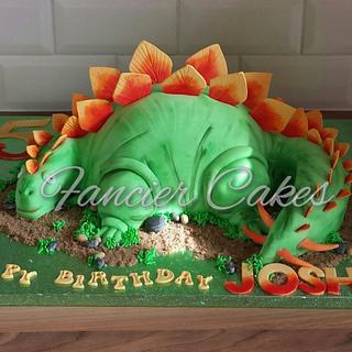 Dinosaur birthday cake - Cake by Fancier Cakes
