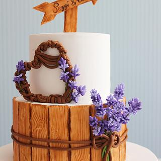 Lavender engagement Cake,cupcake and Cookies