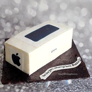 cream cheese iphone cake