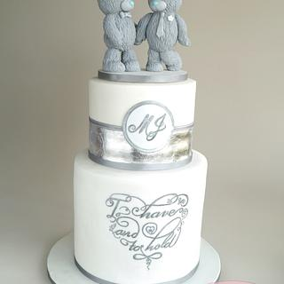 Me To You Bears Inspired Wedding Cake