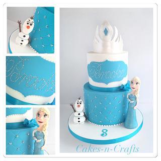 Frozen! Elsa Olaf and sugar tiara