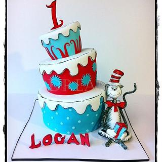 The Cat in the Hat! - Cake by Dream Cakes by Robyn
