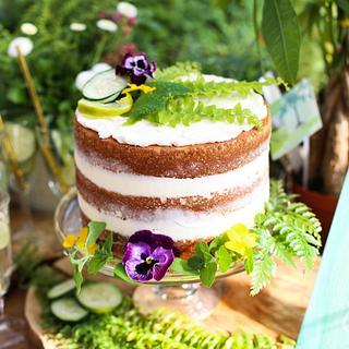 Botanical Naked Cake