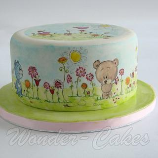 Cute little spring cake
