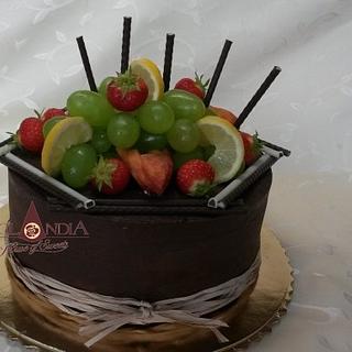 Ganache and fruits