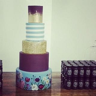 Floral print wedding cake - Cake by Rebecca