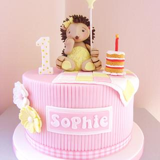 Sophie's 1st Birthday Hedgehog Cake..