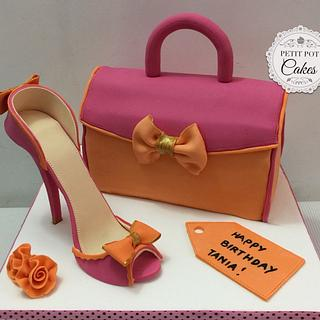Stiletto and bag cake