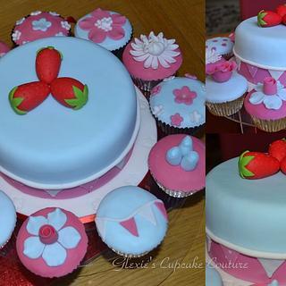 Cath Kidston inspired cake/cupcakes - Cake by glenda