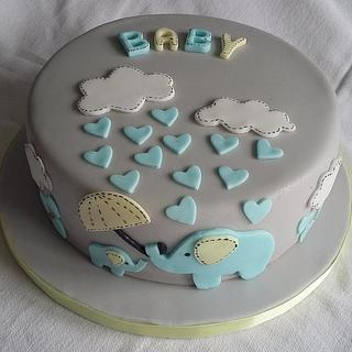 Elephant Baby Shower - Cake by cupcakeycooper